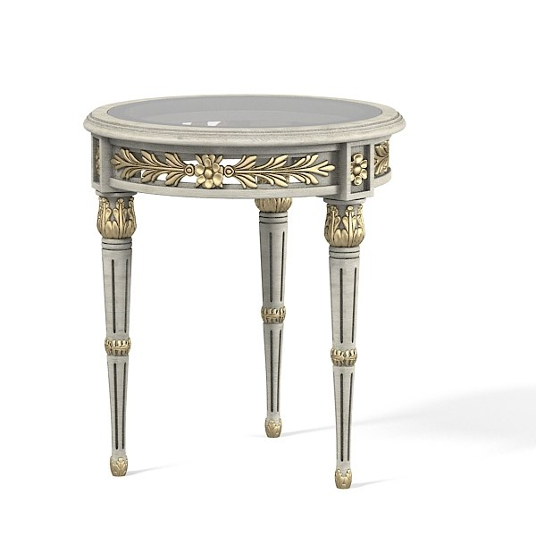 Spini Ag-964 corree glass round classic baroque carved carving victorian side table0001.jpg